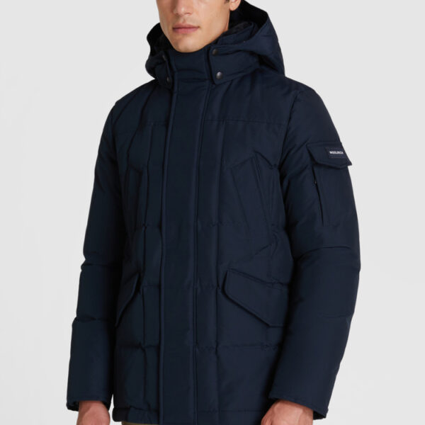 WOOLRICH-FIELD-JACKET-BLU